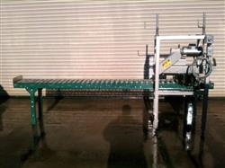 120548 - Case Conveyor w/ Powered Top Case Compression Unit and Roll On Dater