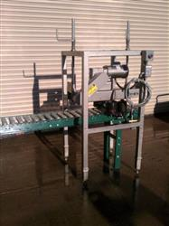 Image Case Conveyor w/ Powered Top Case Compression Unit and Roll On Dater 334546