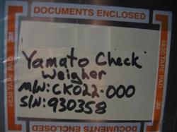Image YAMATO Model CK02L-000 (CE301) Checkweigher 650610