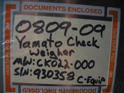 Image YAMATO Model CK02L-000 (CE301) Checkweigher 943192