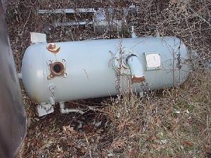 55 Gallon E.L. NICKELL CO Carbon Steel Pressure Tank, 400 psi