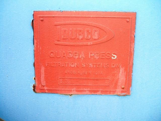 "Image 36"" x 36"" DURCO Filter Press w/ 16 Plates 335327"