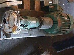 Image 7.5 HP TRI-CLOVER Stainless Steel Sanitary Centrifugal Pump 335596