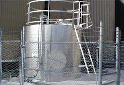 "121302 - 108"" Dia. x 100"" High 316 Stainless Steel Tank"