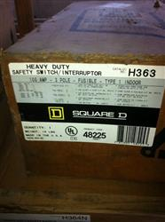 121304 - 100 Amp SQUARE D H363 HD Safety Switch, 600V