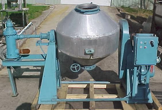 PAUL O. ABBE S/S Rotary Double Cone Vacuum Dryer