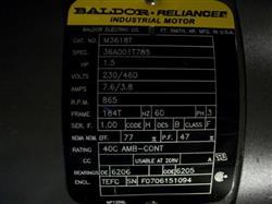 Image 1.5 HP BALDOR/RELIANCE Motor 337912