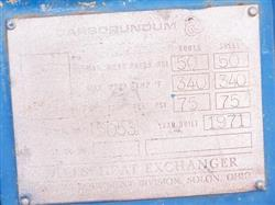 Image 16 sf CARBORUNDUM Graphie Shell and Tube Heat Exhanger 338004