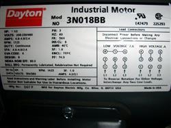 Image 1.5 HP DAYTON Motor 338084