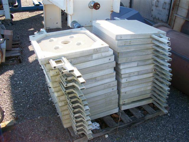 Image 8.7 cf HOESCH Polypropylene Recessed Plate Filter Press 338298