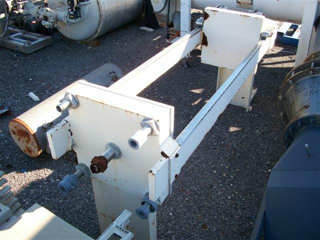 Image 8.7 cf HOESCH Polypropylene Recessed Plate Filter Press 338300