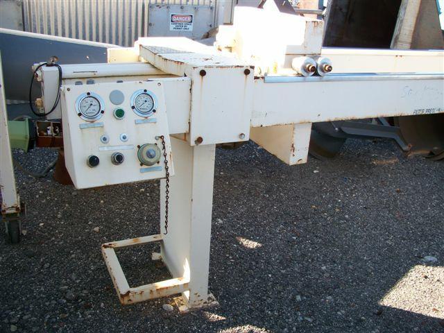 Image 8.7 cf HOESCH Polypropylene Recessed Plate Filter Press 338301