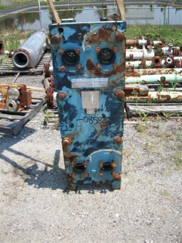 50 sf MUELLER AT20 C-21 Stainless Steel Plate Heat Exchanger