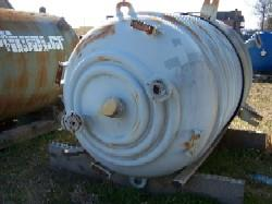 1000 Gallon PFAUDLER RA-60-1000 Glass Lined Reactor Body