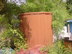 123609 - 1170 Gallon Fiberglass Lined Steel Tank