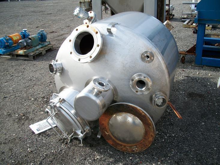 54 cf 304 Stainless Steel Cone Bottom Tank/Hopper