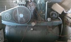 Image MANCHESTER Duplex Air Compressor w/ 7.5 HP BALDOR Motors 340533