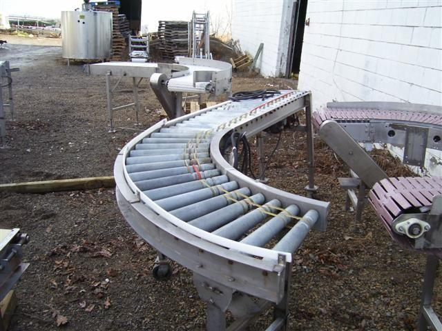 90 Degree Turn Power Roller Conveyor w/Drive