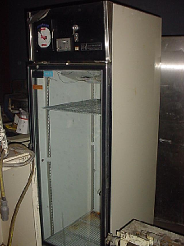 23.27 cf PUFFER HUBBARD Glass Door/Mild Steel Refrigerator