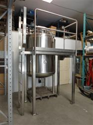 126554 - 1500 Liters 316 Stainless Jacketed Pressure Tank