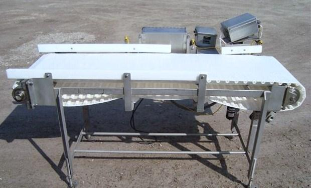 "17-3/4"" W x 65"" L Horizontal Intralox Reject Conveyor"