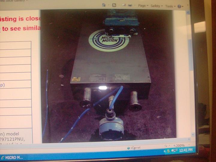 MICRO MOTION Sanitary Flowmeter & Transmitter