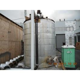 5000 Gallon 316 Stainless Steel FB/FT Agitated Tank,  9