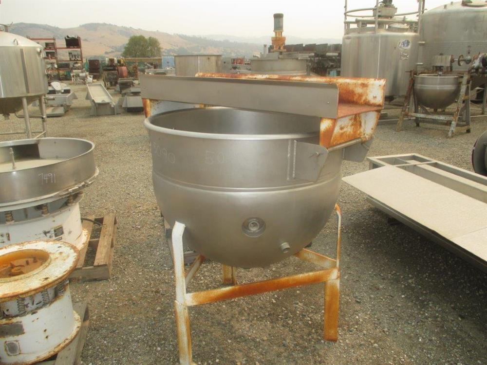 Image 100 Gallon HAMILTON Single Motion Kettle 1505219