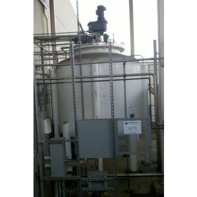 3000 Gallon 304L Stainless Steel DT/CB Agitated Tank, 25 psi
