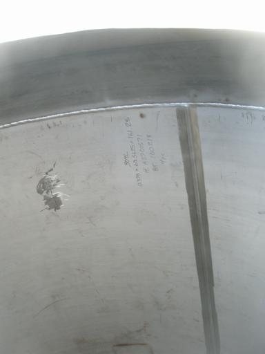 Image 3000 Gallon 304L Stainless Steel DT/CB Agitated Tank, 25 psi 402084