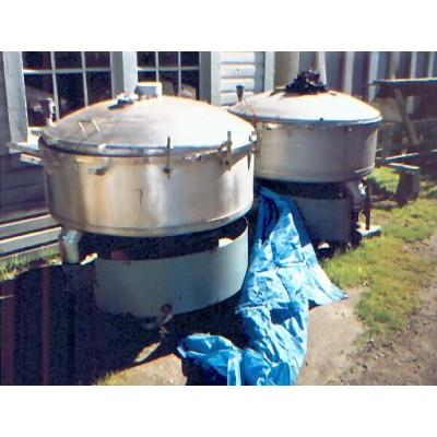 "48"" Dia. GUMP BAR-NUN CP-43 Stainless Steel Pressure Sifter"