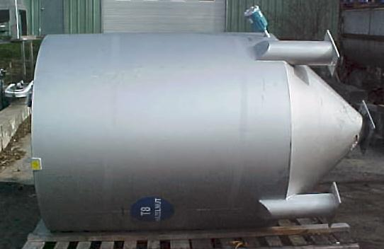 124.4 CF Stainless Steel Bulk Solids Receiver