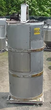 750 Gallon Open Top Stainless Steel Mixing Tank