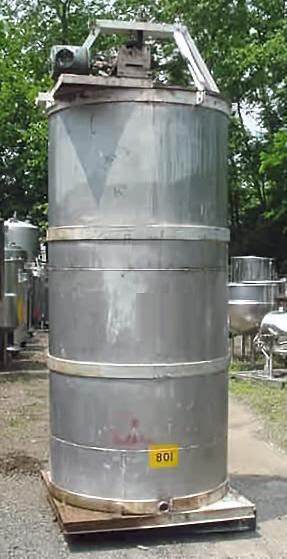 Image 750 Gallon Open Top Stainless Steel Mixing Tank 347542