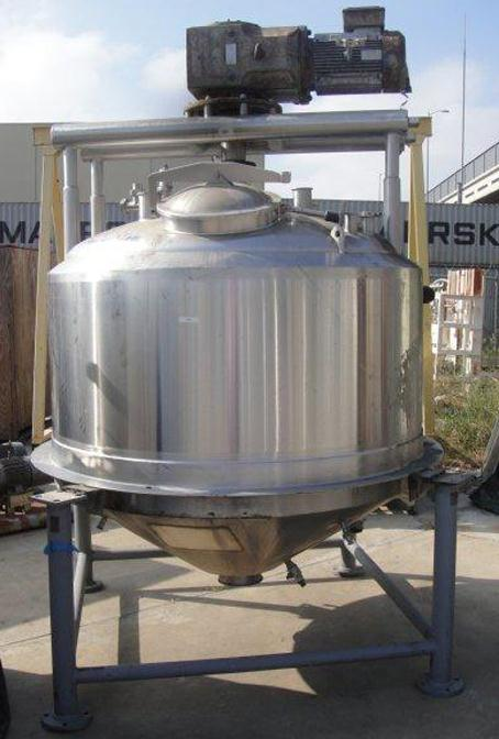 600 Gallon SS Jacketed Kettle with Agitation
