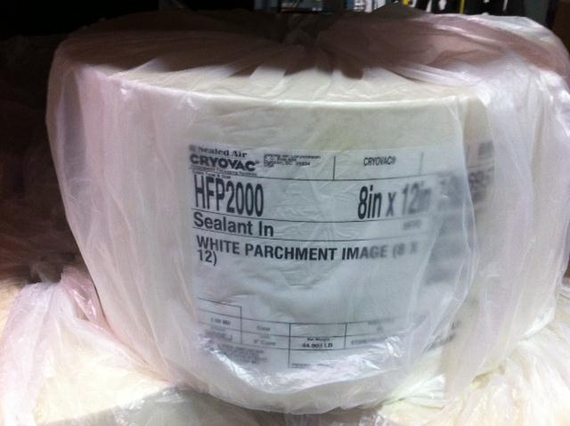 CRYOVAC Horizontal Packaging Film Rolls White Parchment Style 8""
