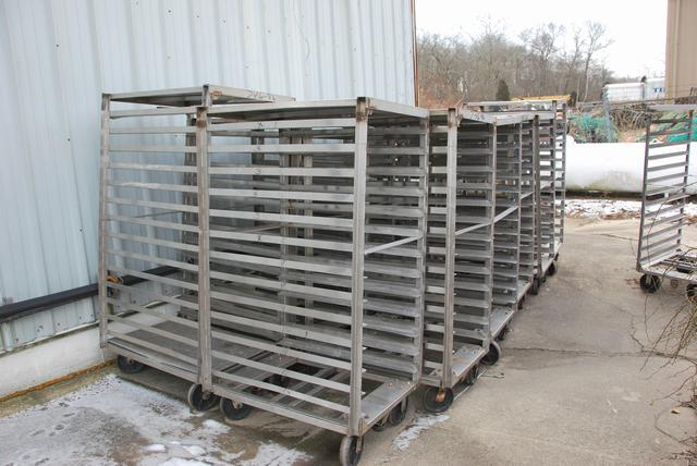 Heavy Duty Blast Freezer Racks with 8in Casters - Stainless Steel