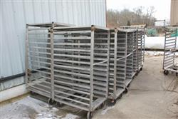 "136846 - Heavy Duty SS Blast Freezer Racks w/ 8"" Casters"