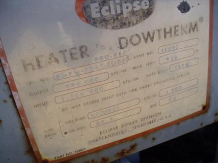Image ECLIPSE DOWTHERM Hot Oil Boiler 434935