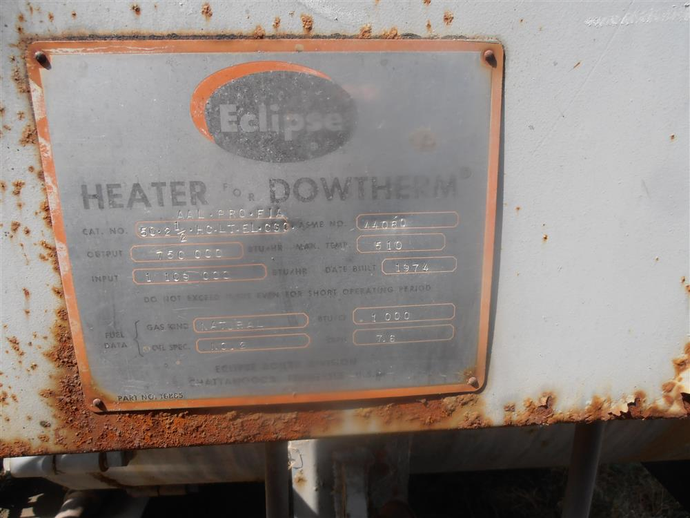 Image ECLIPSE DOWTHERM Hot Oil Boiler 1484211