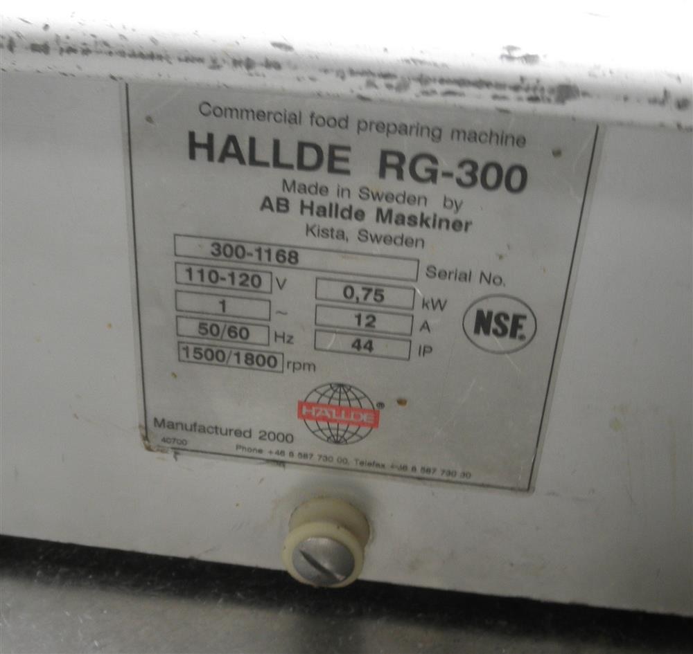 Image 1 HP HALLDE RG300 Table Top Dicer 444831