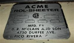 139025 - ACME Model 8 Rol-Sheeter