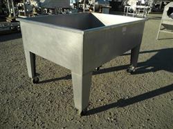 "Image 48"" X 54"" X 18"" Deep Stainless Steel Hopper 361593"