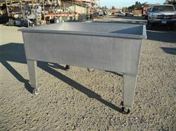 "Image 48"" X 54"" X 18"" Deep Stainless Steel Hopper 361596"