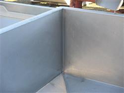"Image 48"" X 54"" X 18"" Deep Stainless Steel Hopper 760786"