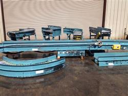 "143025 - 16"" Powered Case Incline Conveyor w/ (4) 90^ Curves, Cleated Belt"