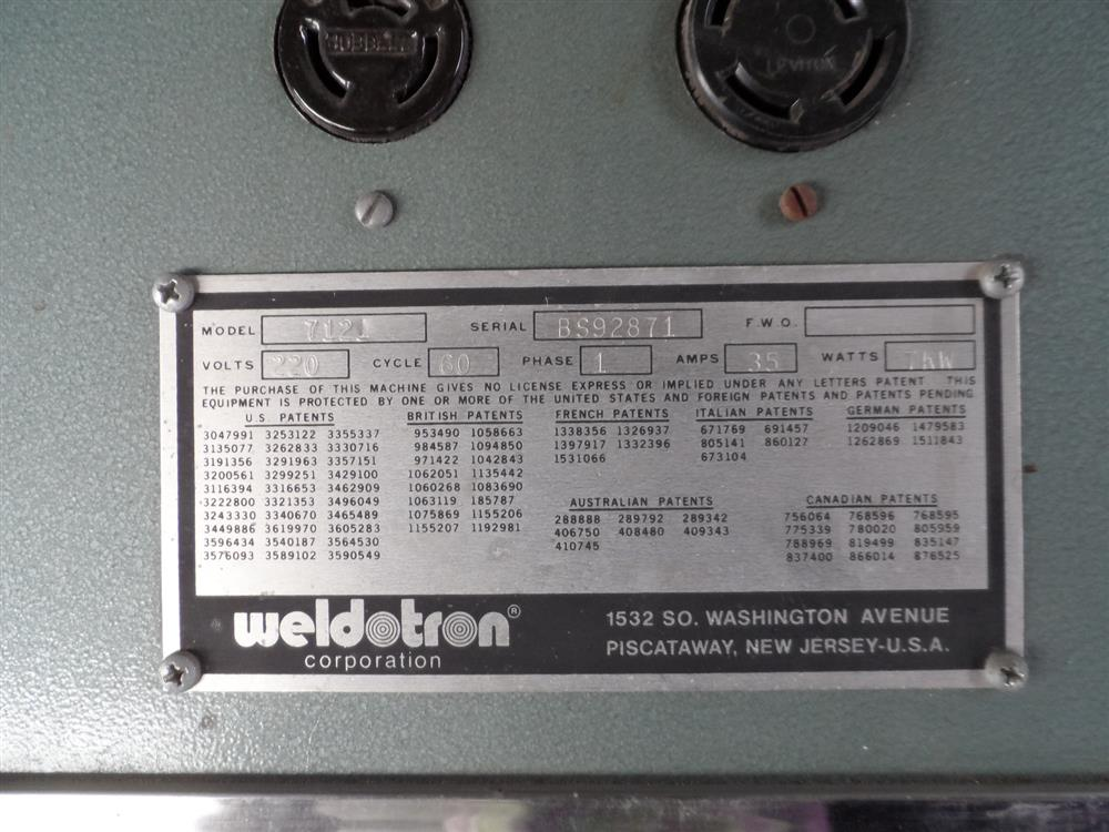 Image WELDOTRON Oven and Bar Sealer 1119965