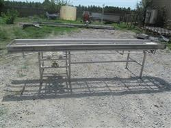 "145380 - 12' 6"" X 24"" Stainless Center Drive Intralox Conveyor Frame"