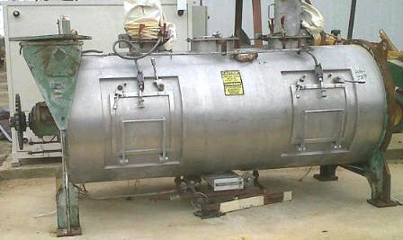 65 cf Stainless Steel Jacketed Plow Mixer with Choppers