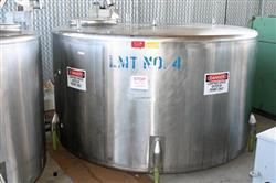 156197 - 1000 Gallon CHERRY BURRELL Stainless Steel Mix Tank